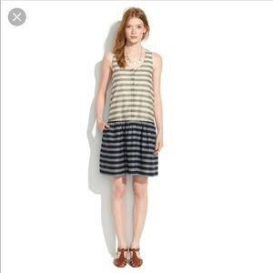 Madewell Drop Waist Dress, Small
